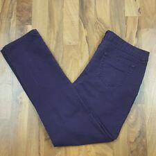 City Streets Juniors Straight Leg Jeans Size 11 Purple Low Rise Stretch
