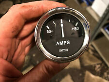 "Smiths Ancillary Ammeter Gauge Chrome Rim 52mm 2"" Classic Triumph MG Mini Etc"