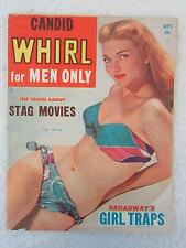 Vintage CANDID WHIRL Magazine for Men Only Sept. 1952 PAT HILTON Cover Girl
