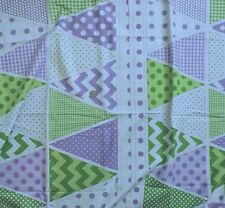 100% Cotton Fabric - Riley Blake Holiday Banners Triangles   - By The Yard (a)