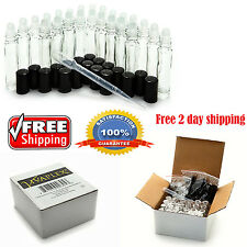 24 Glass Perfume Roll On Bottles 10ml Essential Oil Empty Rollers Aromatherapy