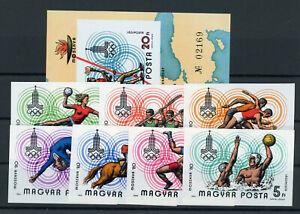 Ungarn 3433/39 Block 142 B postfrisch / Olympiade .......................2/14145