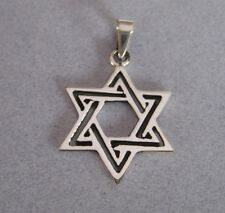 Mexican 925 Sterling Silver Taxco Modern Star of David Jewish Unisex Pendant New