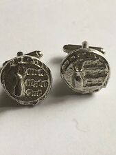 Made From English Modern Pewter Girls Night Out Disc Tg217 Cufflinks