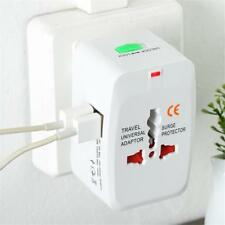 All in One Universal International Plug Adapter  USB Port World Travel ss