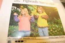 Figheadh Knitting Pattern 2275 Olliphest Sweater Girls size 2-12