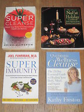 Wellness-Nutrition / Cleanse / Vegan Books - Lot of 4