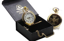 KNIGHTS TEMPLAR Freemason Masonic GOLD POCKET WATCH Luxury Gift Box Certificate