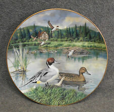 """1986 Knowles Plate """"The Pintail"""" - Living With Nature Jerner's Ducks - Coa & Box"""