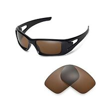 Walleva Polarized Brown Replacement Lenses for Oakley Crankcase Glasses