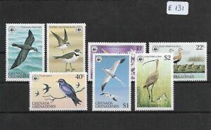 SMT, WWF, Grenada Grenadines birds set, MNH