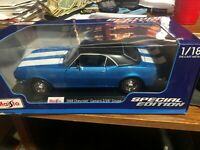 1968 CHEVROLET CAMARO Z/28 COUPE BLUE MET. 1/18 DIECAST MODEL CAR MAISTO 31685