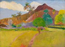 """PAUL GAUGUIN Painting Poster or Canvas Print """"Tahitian Landscape"""""""