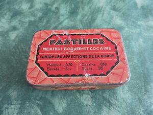 Ancienne Boite Pastilles Menthol Borate Cocaïne- Art Déco cocaïn box- Blechdose