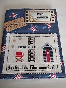 Cahier brodé points de croix Festival du film Américain Deauville, n°2