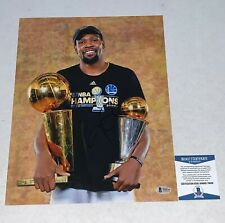 Kevin Durant signed Golden State Warriors Trophy 11x14 photo BAS Beckett