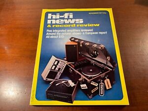 hi fi news and record review hi-fi magazine nice condition November 1977