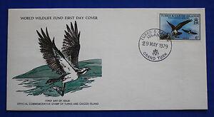 Turks & Caicos (380) 1979 Osprey WWF FDC