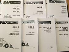 FIAT ALLIS 345B WHEEL LOADER REPAIR SERVICE WORKSHOP MANUAL FULL