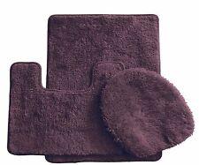 3 Piece Luxury Acrylic Bath mat set Made with 100% Polypropylene. (Brown)
