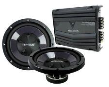"""2) Kenwood KFC-W110S 10"""" 1400W Car Subwoofers + KAC-5206 400W 2-Ch Amp P-W1020"""