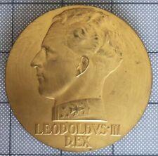 Rare Médaille LEOPOLD III PAR RAV. Conservatoire Royal Musique Liège. L. DUMONT