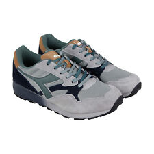 Diadora N902 Speckled Mens Gray Suede & Mesh Athletic Lace Up Running Shoes