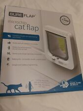 SureFlap Microchip Cat Door No Collar or Tag Required White Battery Power *New*