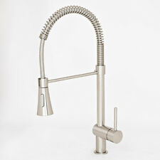 "NEW 22"" Brushed Nickel Kitchen Faucet Bar Sink Pull-Out Swivel Spout Holding Arm"