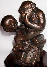 Reproduction W H Rheinhold DARWIN Philosophical MONKEY Sculpture Rheingold