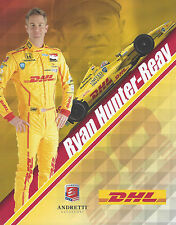 "2014 INDY 500 RYAN HUNTER-REAY USA ANDRETTI AUTOSPORT INDYCAR 8""X10"" HERO CARD !"