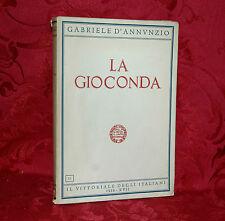 La Gioconda di Gabriele D'Annunzio 1939 Il Vittoriale degli Italiani