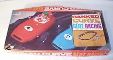 Ahi Of Japan Banked Curved Slot Car Set Battery Operated With Cars Boxed 1960s