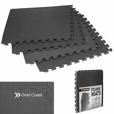 Gold Coast Interlocking Gym Floor Mats Thick EVA Foam 16 SQ FT 4 Piece 1.2cm