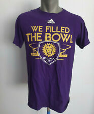Orlando City Purple FAN T-Shirt Adidas Size S Soccer Jersey We Filled The Bowl