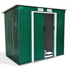 Abri de jardin en métal serre cabane à outils rangement verte + fondation