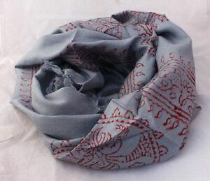 Medium Om Printed Prayer Scarves with Fringes-High Quality Cotton Prayer Scarves