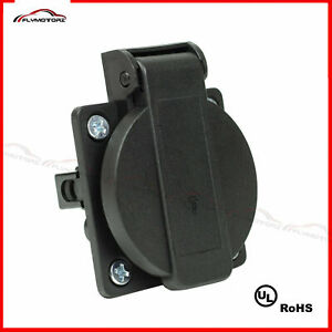 1Pcs UL 110V AC 15A Flanged Outdoor Power Outlet Receptacle Covers RV Marine 125