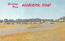 Henderson TX Gas Station Old Cars Postcard