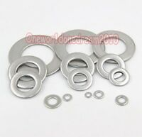 200x Type A2 Stainless Steel SS Bolt Flat Washers M3 M4 M5 M6 M8 M10 M12 M16 M20
