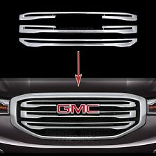 2017 2018 GMC Acadia CHROME Snap On Grille Overlay Front Grill Bar Cover Inserts