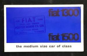 FIAT 1300 1500 SALOON 1961 - 64 MOTOR CAR SALES BROCHURE UK MARKET