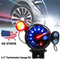 "12V Tachometer Gauge Kit LED 3.5"" Auto Meter W/Shift Light Stepping Motor P1W2"