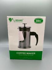 L-BEANS French Press Coffee Maker High Borosilicate Glass 304 Grade Stainless