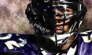 New Ray Lewis Baltimore Ravens Art Print LE 50 12 x 18