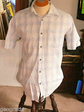 Pacific Trail Outdoor Wear Plaid Light Blue Mens S/S Shirt Size M