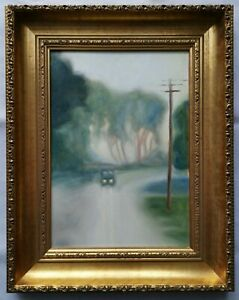 Original Framed Oil Painting - After Clarice Beckett (Untitled / Unsigned)