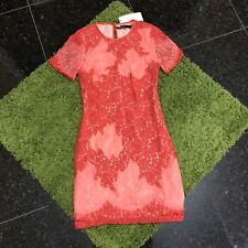 NWT $450 Karen Millen Feminine Fine Lace Patch Dress Size 8UK