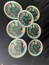Boys Plastic Character Plates Lot of 7 Incredible Hulk(aa)
