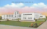 Jackson Mississippi~Bailey Junior High School~1940s Postcard